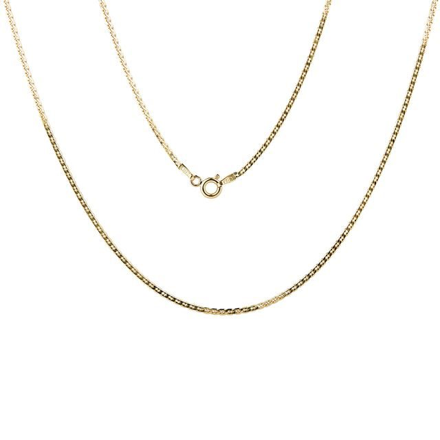 Ladies curb chain in gold, 50 cm long