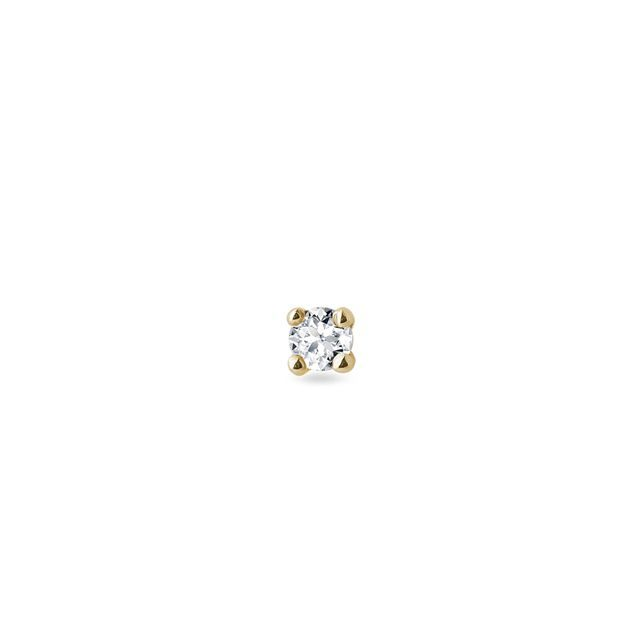 Petite diamond earring in yellow gold