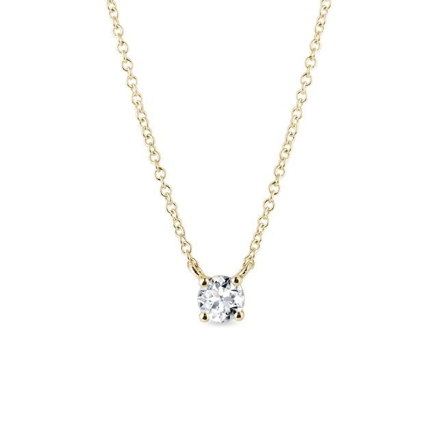 Necklace of yellow gold with diamond