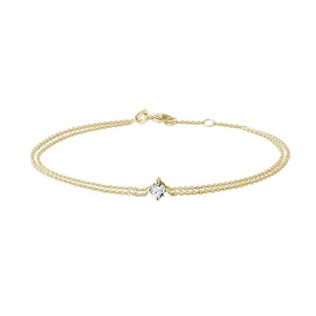 Diamantarmband in Gelbgold