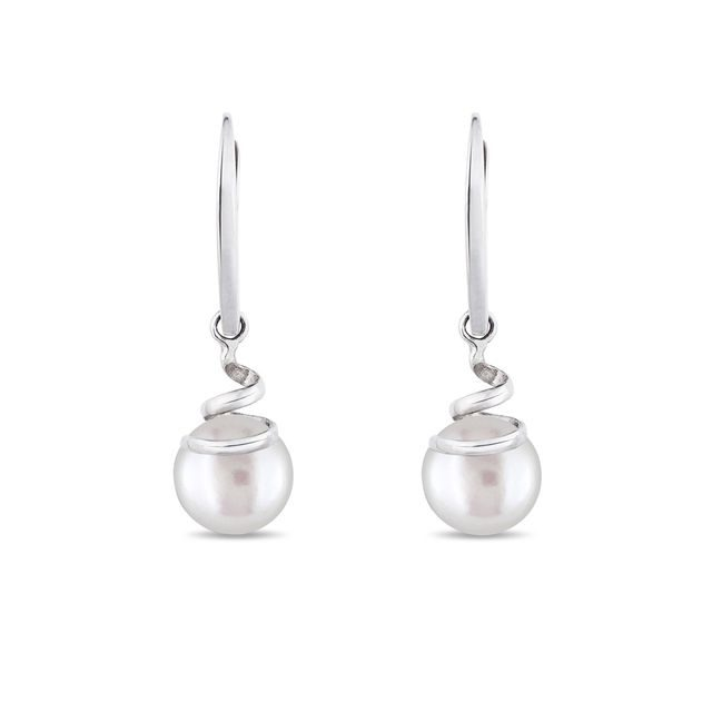 Pearl earrings in 14kt gold