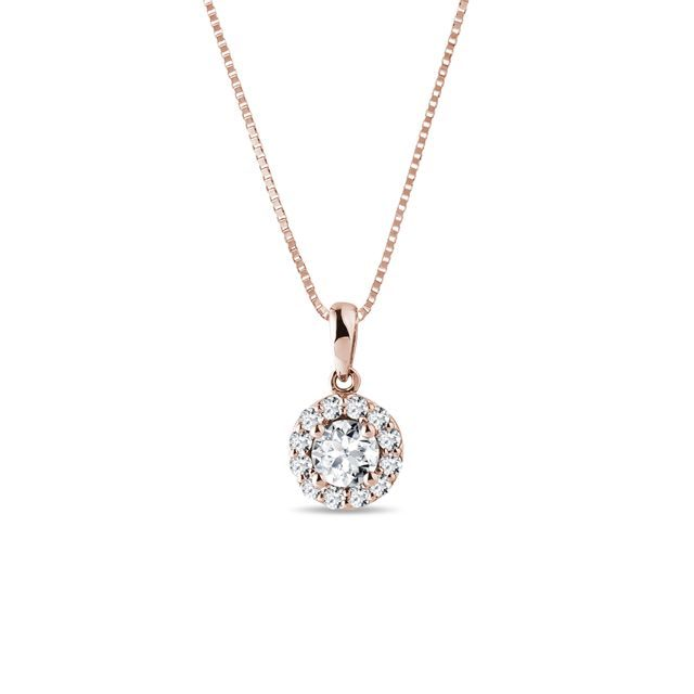 Collier en or rose et diamants