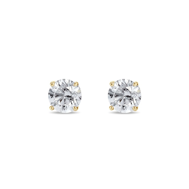 Stud earrings with 0.14ct diamonds in 14kt gold