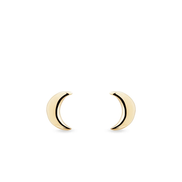 Gold moon-shaped earrings