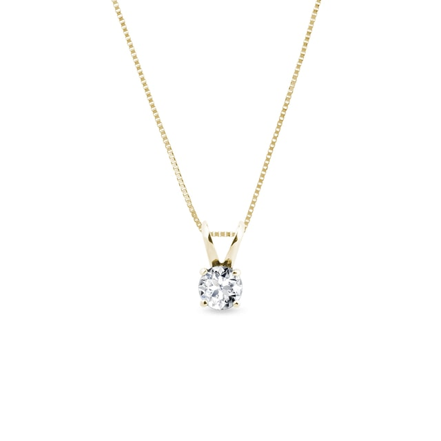 Collier en or jaune avec diamant