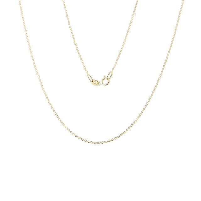 Ladies 50 cm rolo chain necklace in gold