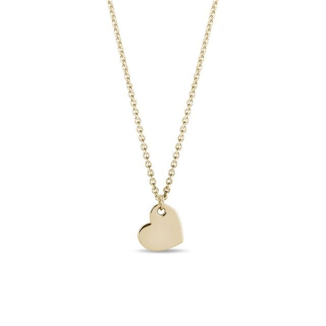 Heart pendant in yellow gold