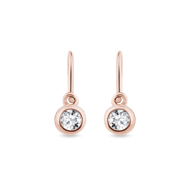 Children's diamond earrings in rose gold