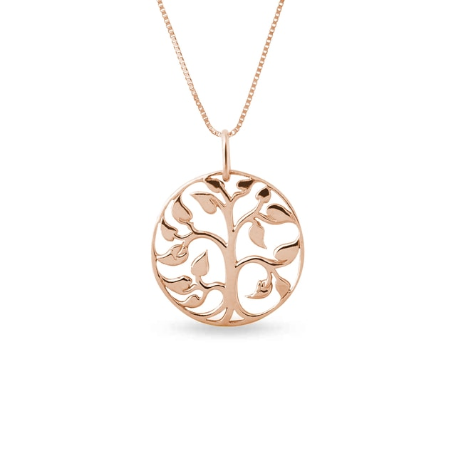 Tree of Life necklace in rose gold
