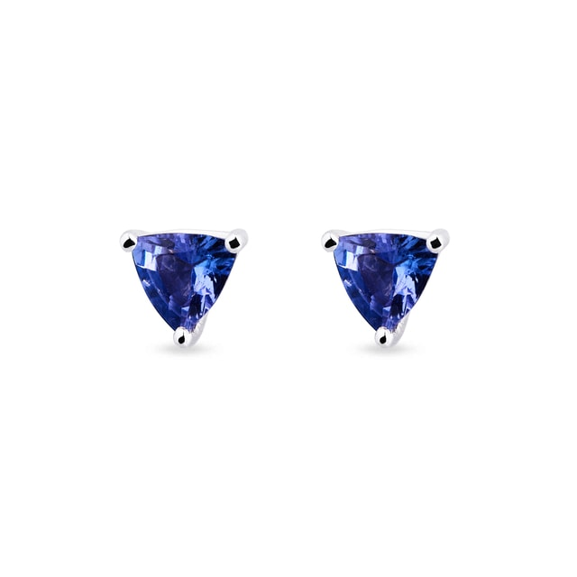 Tanzanite stud earrings in 14kt gold