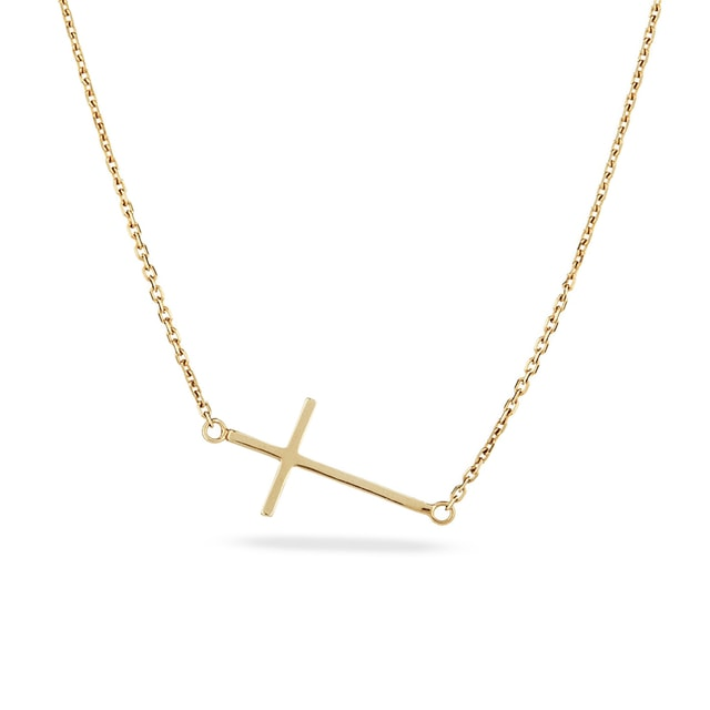 Cross pendant necklace in gold