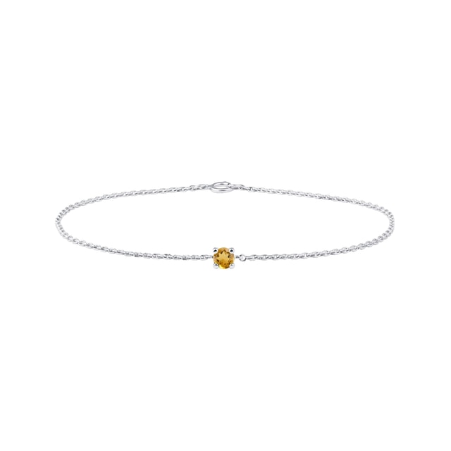 Citrine bracelet in white gold