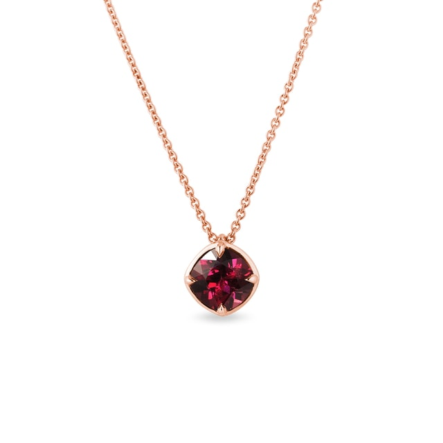 Rhodolite necklace in rose gold