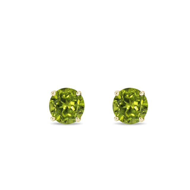 Peridot earrings in 14kt solid gold