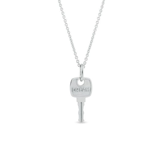 Dream key pendant in white gold
