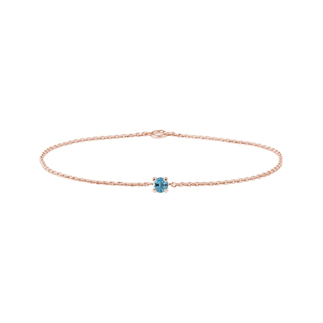 Topas Armband in Roségold