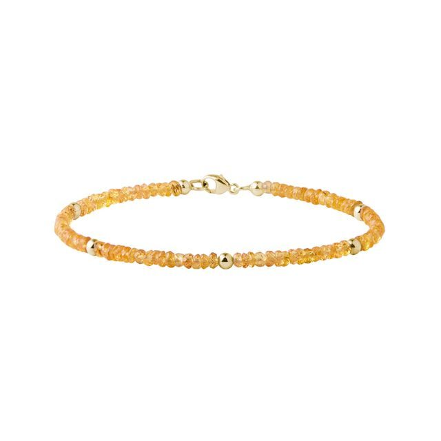 Yellow sapphire bracelet in gold
