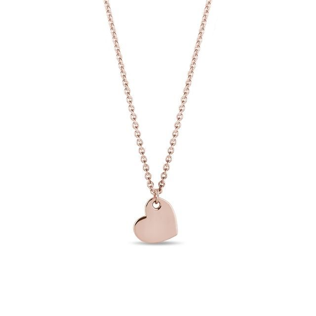 Heart pendant in rose gold