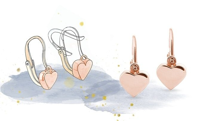 Ohrringverschlüsse, typ Vorderverschluss - KLENOTA