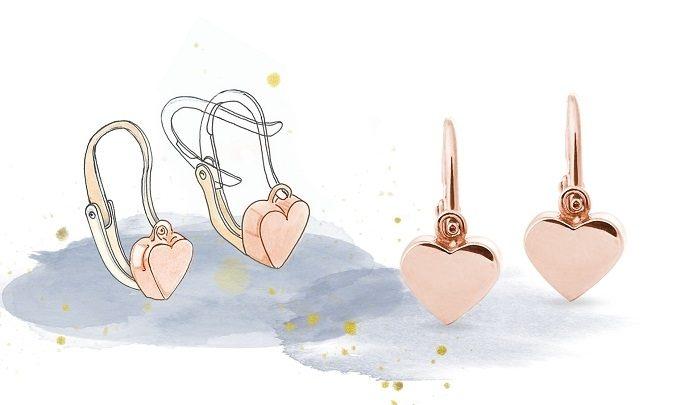 Boucles d'oreilles, type de fermoir brisure - KLENOTA