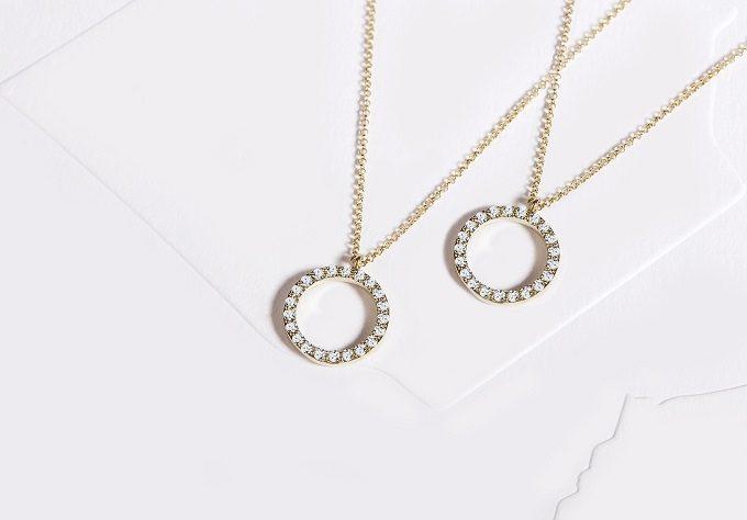 Colliers en or jaune avec diamants - KLENOTA