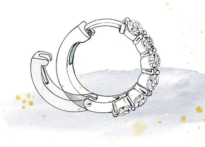 Zapínání náušnic, typ ruský patent - KLENOTA