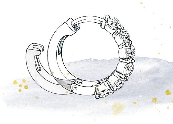 Earrings fastening, type latch back / Russian patent - KLENOTA