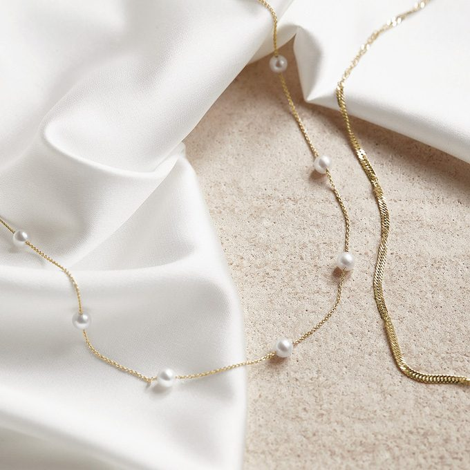 Gelbgold-Halsketten - KLENOTA