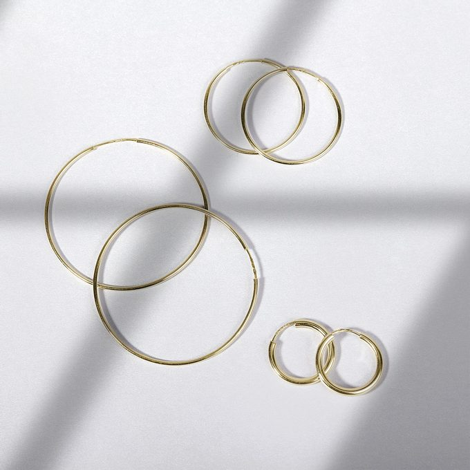 earrings circles in yellow gold - KLENOTA