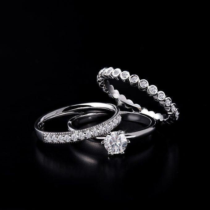Luksusowe pierścionki wieczności z brylantami - KLENOTA