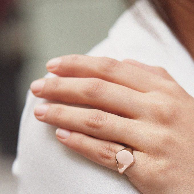 rose gold ring - KLENOTA
