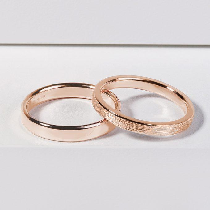 originální pánský prsten s nepravidelnou strukturou růžové zlato - KLENOTA