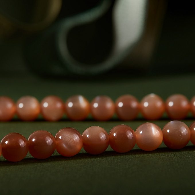 Necklace made of sunstones from the Seasons collection - KLENOTA