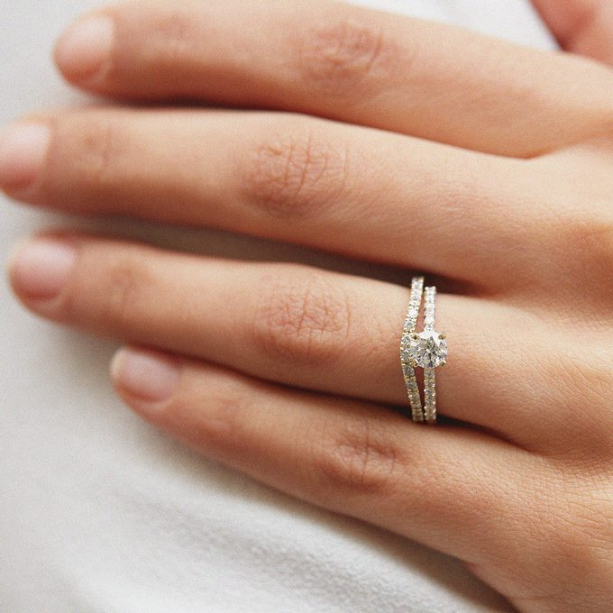 Verlobungs- und Hochzeitsdiamantring - KLENOTA