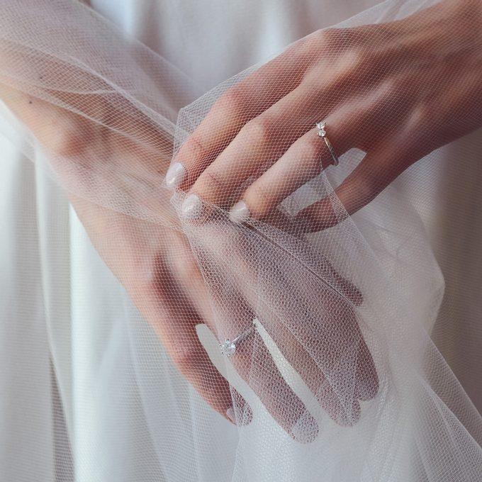 zásnubní a snubní prsten s diamantem - KLENOTA