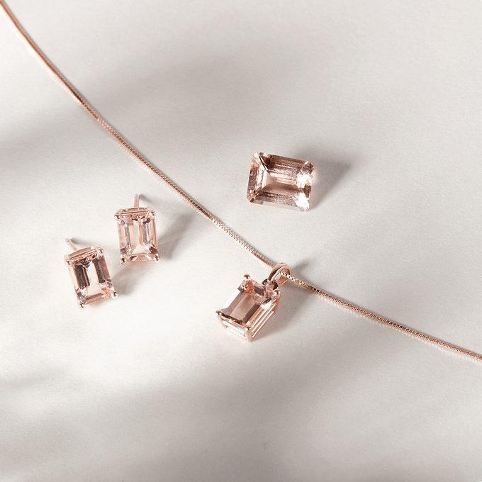 KLENOTA sada šperkov s diamantmi ružové zlato