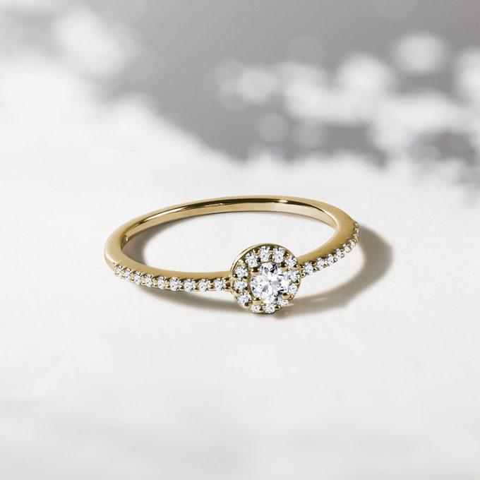 Goldring mit Diamanten - KLENOTA
