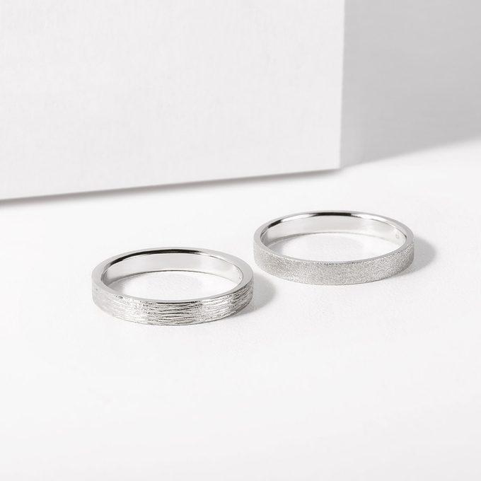 pánské snubní prsteny bílé zlato - KLENOTA