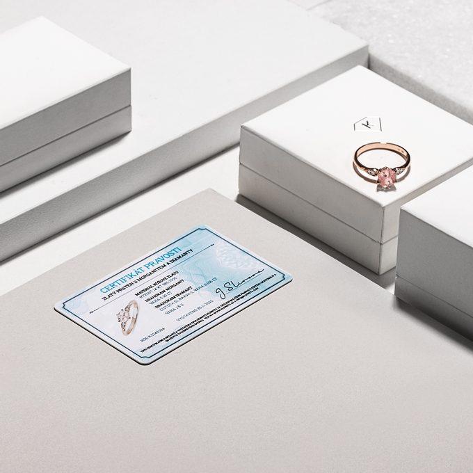 certifikát šperku KLENOTA