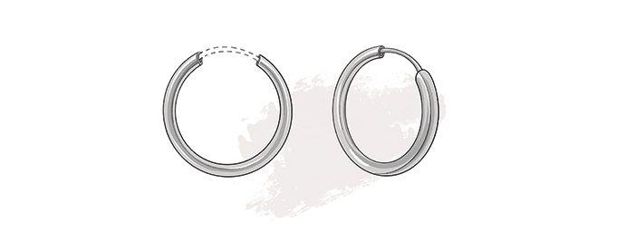 type of earring closures - hoop fastening