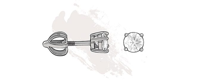 type of earring closures - screw back