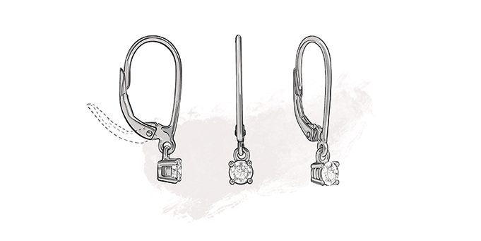type of earring closures - the leverback