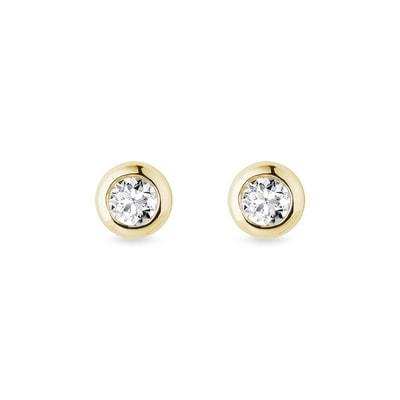8d895abcb Zlaté bezel napichoavčky s 3 mm diamantmi | KLENOTA