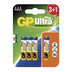 GP Ultra Plus Alkaline AAA (R03) 3+1