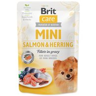 Kapsička BRIT Care Mini Salmon & Herring sterilised fillets in gravy 85g