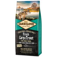 CARNILOVE Fresh Carp & Trout Shiny Hair & Healthy Skin for Adult dogs 12kg