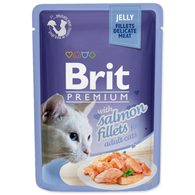 Brit premium cat kaps.filety s lososem v želé  85g