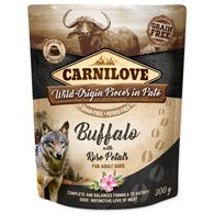 Kapsička CARNILOVE Dog Paté Buffalo with Rose Petals 300g