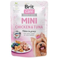 Kapsička BRIT Care Mini Chicken & Tuna fillets in gravy 85g