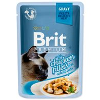Kapsička BRIT Premium Cat Delicate Fillets in Gravy with Chicken (85g)